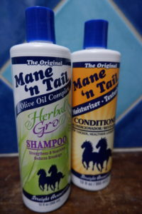 Mane 'n Tail Herbal Gro Shampoo and regular conditioner